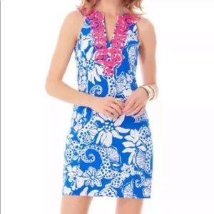 Lilly Pulitzer Augusta Shift Dress Quahog Chowdah